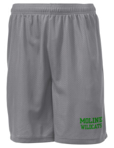 "Moline Elementary School Wildcats Men's Mesh Shorts, 7-1/2"" Inseam"