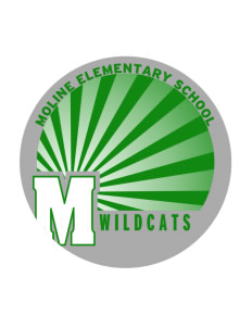 Moline Elementary School Wildcats Sticker