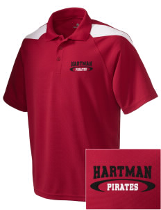 Hartman Middle School Pirates Embroidered Holloway Men's Frequency Performance Pique Polo