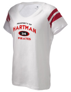 Hartman Middle School Pirates Holloway Women's Shout Bi-Color T-Shirt