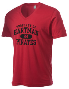 Hartman Middle School Pirates Alternative Men's 3.7 oz Basic V-Neck T-Shirt