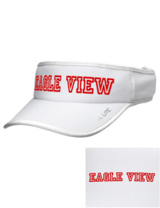 Eagle View Elementary School Eagles Embroidered Lite Series Active Visor
