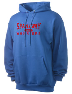 Spanaway Junior High School Warriors Men's 7.8 oz Lightweight Hooded Sweatshirt