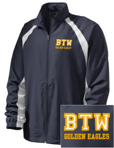 Washington High School Golden Eagles  Embroidered Men's Full Zip Warm Up Jacket