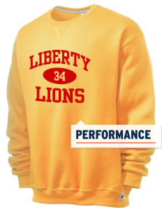 Liberty High School Lions  Russell Men's Dri-Power Crewneck Sweatshirt
