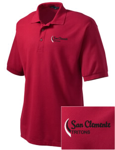 San Clemente High School Tritons Embroidered Men's Silk Touch Polo