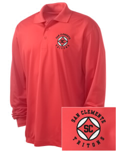 San Clemente High School Tritons Embroidered Men's Long Sleeve Micropique Sport-Wick Sport Shirt