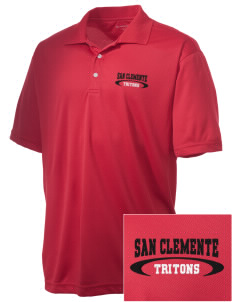 San Clemente High School Tritons Embroidered Men's Double Mesh Polo