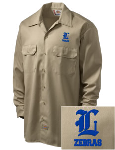 Lincoln High School Zebras Embroidered Dickies Men's Long-Sleeve Workshirt