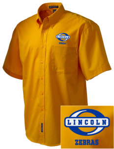 Lincoln High School Zebras Embroidered Men's Easy Care Shirt