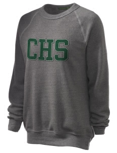 Coronado High School Islanders Unisex Alternative Eco-Fleece Raglan Sweatshirt with Distressed Applique
