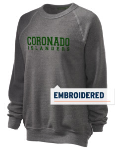 Coronado High School Islanders Embroidered Unisex Alternative Eco-Fleece Raglan Sweatshirt