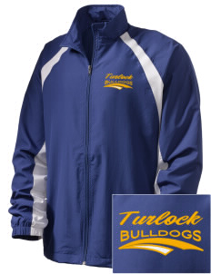 Turlock High School Bulldogs  Embroidered Men's Full Zip Warm Up Jacket