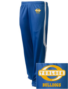 Turlock High School Bulldogs Embroidered Holloway Men's Tricotex Warm Up Pants