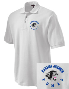Harmon Johnson Elementary School Pumas Embroidered Tall Men's Pique Polo