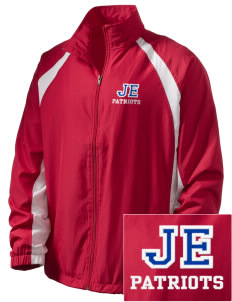 John Ehret High School Patriots  Embroidered Men's Full Zip Warm Up Jacket
