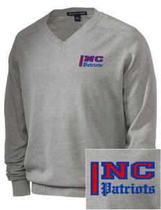 North Cumberland Elementary School Patriots Embroidered Men's V-Neck Sweater