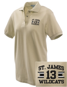 Saint James High School Wildcats Embroidered Women's Pique Polo