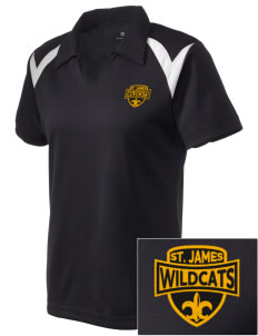 Saint James High School Wildcats Embroidered Holloway Women's Laser Polo