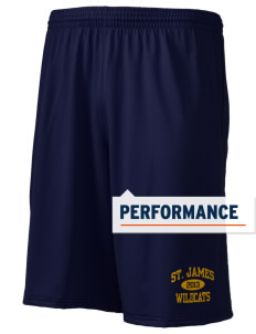 "Saint James High School Wildcats Holloway Men's Performance Shorts, 9"" Inseam"