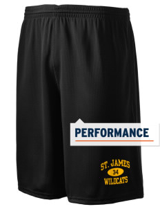 "Saint James High School Wildcats Holloway Men's Speed Shorts, 9"" Inseam"
