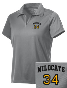 Saint James High School Wildcats Embroidered Women's Double Mesh Polo