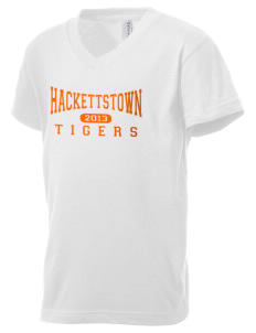 Hackettstown High School Tigers Kid's V-Neck Jersey T-Shirt