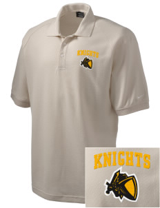 Uniondale High School Knights Embroidered Nike Men's Pique Knit Golf Polo