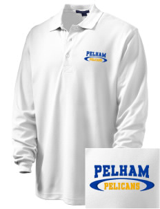 Pelham Pelicans Embroidered Men's Rapid Dry Long Sleeve Polo