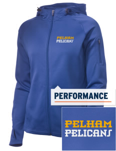 Pelham Pelicans Embroidered Women's Tech Fleece Full-Zip Hooded Jacket