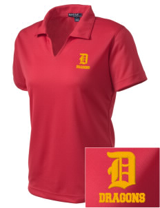 Silveyville Primary School Dragons Embroidered Women's Dri Mesh Polo