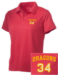 Silveyville Primary School Dragons Embroidered Women's Double Mesh Polo