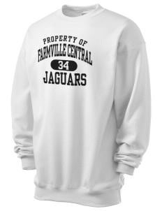 Farmville Central High School Jaguars Men's 7.8 oz Lightweight Crewneck Sweatshirt