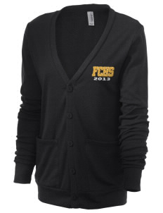 Farmville Central High School Jaguars Unisex 5.6 oz Triblend Cardigan with Distressed Applique