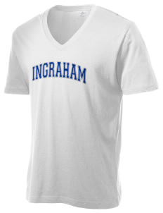 Ingraham High School Rams Alternative Men's 3.7 oz Basic V-Neck T-Shirt