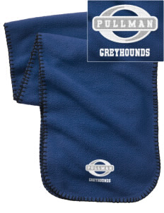 Pullman High School Greyhounds Embroidered Fleece Scarf