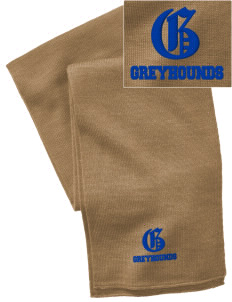 Pullman High School Greyhounds  Embroidered Knitted Scarf