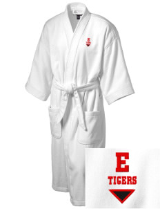 Ellendale Elementary School Tigers Embroidered Terry Velour Robe
