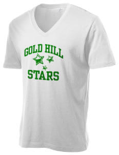 Gold Hill Elementary School Stars Alternative Men's 3.7 oz Basic V-Neck T-Shirt
