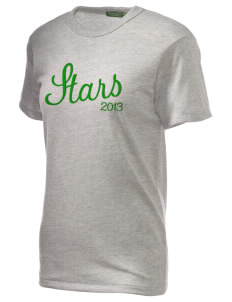 Gold Hill Elementary School Stars Embroidered Alternative Unisex Eco Heather T-Shirt