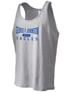 George F Johnson Elementary School Eagles Men's Jersey Tank