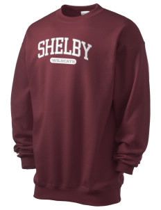 Shelby Elementary School Wildcats Men's 7.8 oz Lightweight Crewneck Sweatshirt