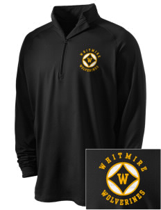 Whitmire High School Wolverines Embroidered Men's Stretched Half Zip Pullover