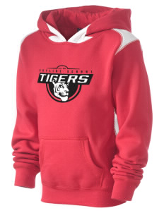 Skyline School Tigers Kid's Pullover Hooded Sweatshirt with Contrast Color