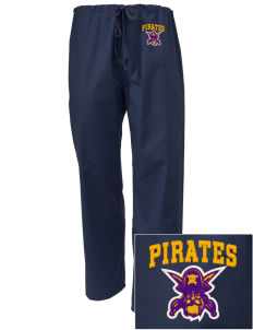 Mount Olive Attendence Center Pirates Embroidered Scrub Pants