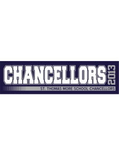 "St. Thomas More School Chancellors Bumper Sticker 11"" x 3"""