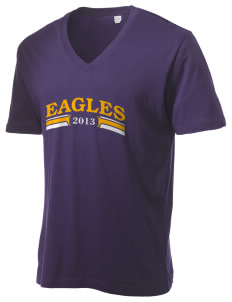 Tooker Avenue Elementary School Eagles Alternative Men's 3.7 oz Basic V-Neck T-Shirt