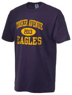 Tooker Avenue Elementary School Eagles  Russell Men's NuBlend T-Shirt
