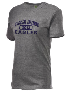 Tooker Avenue Elementary School Eagles Embroidered Alternative Unisex Eco Heather T-Shirt