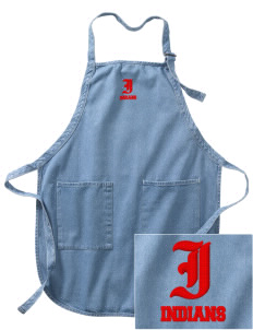 Titonka Consolidated School Indians Embroidered Full-Length Apron with Pockets